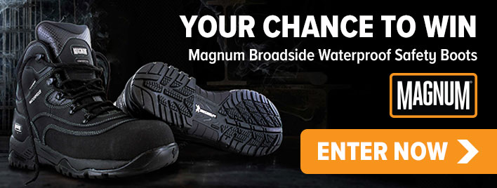 Get the chance to WIN a pair of Magnum Broadside Waterproof Safety Boots