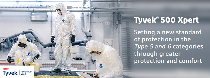 Superior Type 5 and Type 6 protection – DuPont™ Tyvek® 500 Xpert