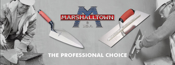 Marshalltown Bricklaying and Plastering Tools