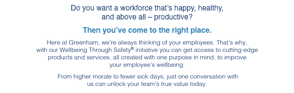 Do you want a workforce that's happy, healthy, and above all - productive?