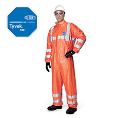 DuPont Tyvek 500 High Visibility Cat III Type 5B/6B Coverall Code: 300182