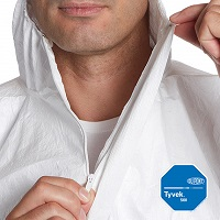 Dupont Tyvek 500 Xpert coverall hood and zip feature