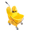 CleanWorks 24L Combination Mop Bucket Yellow