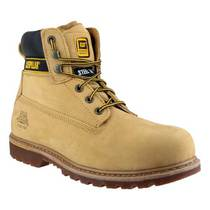 CAT Holton S3 Waterproof Safety Boot with Midsole - Honey