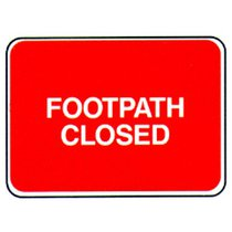 Q Sign Footpath Closed