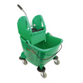 CleanWorks Combination Mop Bucket Green