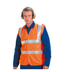 Keep Safe High Visibility EN 471 Sleeveless Double Band and Brace Waistcoat