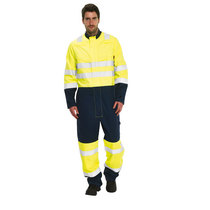 BlazeTEK High Visibility Navy Contrast Provis/Nomex Coverall