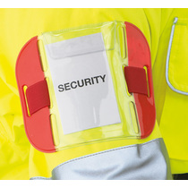 Reflective Identification Armband Red Pocket