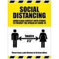 Social Distancing Avoid Close Contact with Others Generic - Anti-Slip Floor Graphic  600x400MM