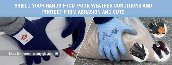 shield your hands from poor weather conditions and protect from abrasions and cuts