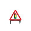 Q Sign Traffic Signals Ahead Sign