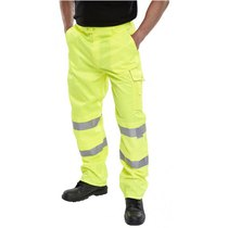 Trouser Cargo Multipocket Yellow Polycotton Tall