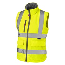 Leo Sandymere Women's High-Visibility Bodywarmer - Saturn Yellow