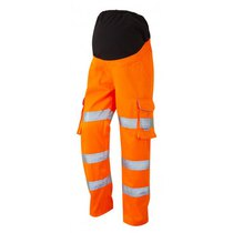 Leo Verity Women's Maternity Cargo Trousers - High-Visibility Orange