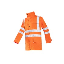 Sioen Preston High Visibility Rain Jacket Orange