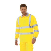 KeepSAFE High-Visibility Long Sleeved Polo Shirt Yellow