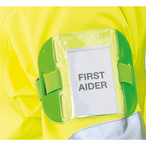 Reflective Identification Armband Green Pocket