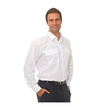 Double Two Polycotton Long Sleeved Pilot Shirt