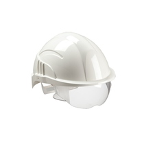 Centurion Vision Plus Unvented Safety Helmet with Integrated Visor
