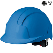 JSP Evolite Vented Wheel Ratchet Safety Helmet - Blue