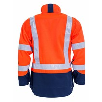 Tranemo Women's High-Visibility Unlined Work Jacket - Orange