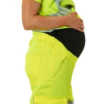 Leo Verity Women's Maternity Cargo Trousers - Saturn Yellow
