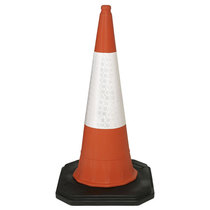 Mastercone 2-Part Motorway Traffic Cone with Sleeve - 1m