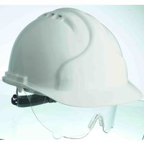 Keep Safe XT Vented Full Peak Safety Helmet with Retractable Eyeshield
