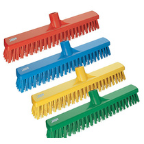 3174 Vikan Hygienic Soft/Stiff Bristle Broom Head