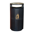 Severn Hooded Top Litter Bin