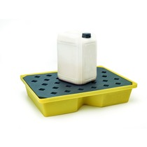 CleanWorks Recycled PE Spill Tray with Grate 43 Litre