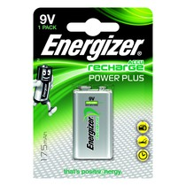 Energizer Plus Power Rechargeable Battery Type 9V Single