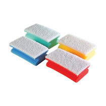 Colour Coded Soft Foam Backed Scourers - Yellow