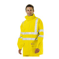 Flexothane EN 471 High Visibility Flame Retardant Anti-Static Rain Jacket