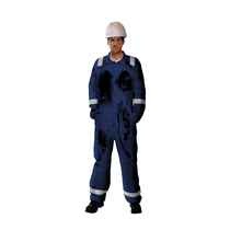 BlazeTEK Anti-Static Flame Retardant Coverall - Navy Blue