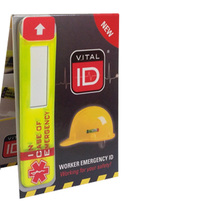 Worker Emergency Helmet Identity ID Large Sticker