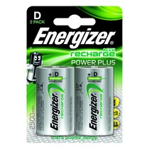 Energizer Plus Power Rechargeable Battery Type D Pack of 2