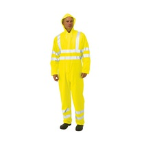 KeepSAFE PU Coated High Visibility Waterproof Coverall