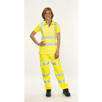 Keep Safe Ladies High Visibility Combat Trousers - Tall