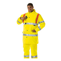 KeepSAFE EN471 High Visibility Safety Jacket with Red Braces