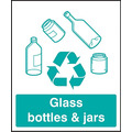 Self Adhesive Glass Bottles/Jars Recycling Sign