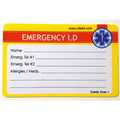 Worker Emergency Wallet ID Card