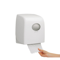 Aquarius Slimroll Rolled Hand Towel Dispenser - White