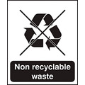Rigid Plastic Recycling Area Sign