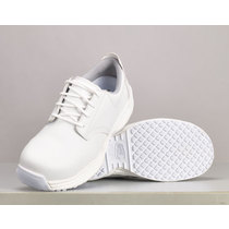 Shoes for Crews Mario Anti-Slip Microfibre Laced Shoe - White