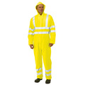 Keep Safe EN471 PU Coated High Visibility Waterproof Coverall