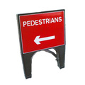 Q Sign Dia 7018 (567.1) Pedestrian Arrow Reversible