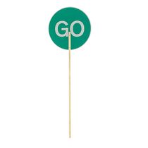 Wooden Stop/Go Pole