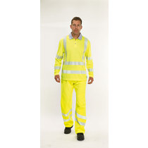 Keep Safe XT Coolviz Plus Long Sleeve High Visibility Polo Shirt - Saturn Yellow